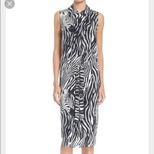 Equipment Tegan Zebra shirt dress silk